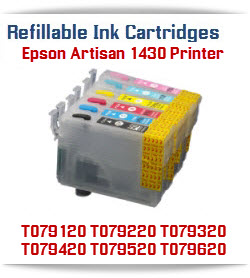 Epson Artisan 1430 printer Refillable ink cartridges