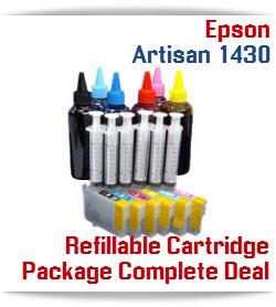 Refillable Ink Cartridges Epson Artisan 1430 printers