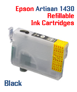 Black Epson Artisan 1430 Refillable printer ink cartridges