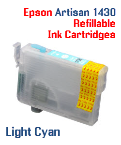 Light Cyan Epson Artisan 1430 Refillable printer ink cartridges