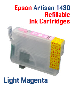 Light Magenta Epson Artisan 1430 Refillable printer ink cartridges