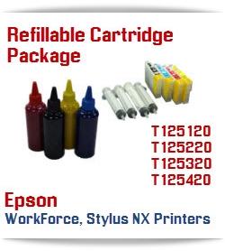 4 Refillable Cartridge Plus Ink Package