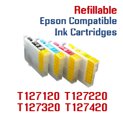 Epson T127 Compatible Refillable ink cartridges