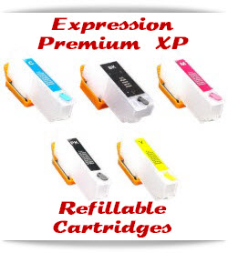 Refillable Epson Expression Premium XP Cartridges