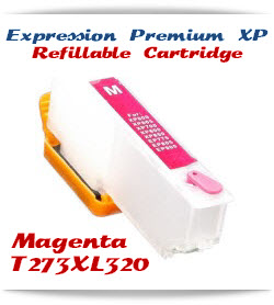 Refillable T273XL320 Magenta Epson Expression Premium XP Printer ink cartridge