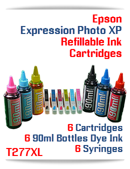 Epson Expression Photo XP Refillable Dye Ink 90ml Package