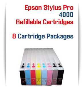 Refillable ink cartridges Epson Stylus Pro 4000 printers