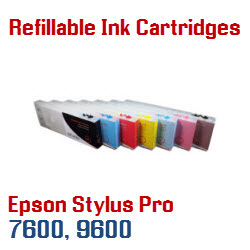 Refillable Ink Cartridges for Epson Stylus Pro 7600, 9600 printers