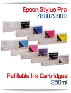 Refillable ink Cartridges Epson Stylus Pro 7800, 9800 printers
