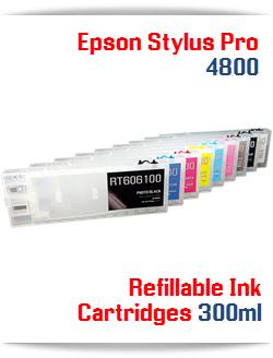 Refillable Ink Cartridges Epson Stylus Pro 4800 Printer