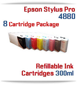 Epson Stylus Pro 4880 8 Refillable ink cartridge Package