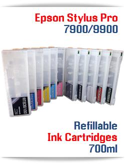 Epson Stylus Pro 7900/9900 Refillable Ink Cartridges 700ml