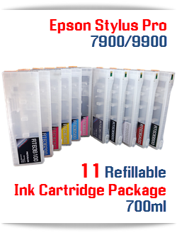 11 Refillable Ink Cartridge Epson Stylus Pro 7900/9900 printers