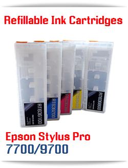 Epson Stylus Pro 7700/9700 Refillable Ink Cartridges