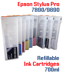 Refillable ink cartridges Epson Stylus Pro 7890, 9890 printers