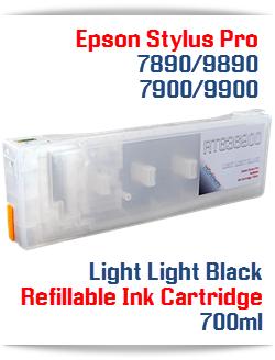 Light Light Black Refillable Ink Cartridge Epson Stylus Pro 7900/9900 printers