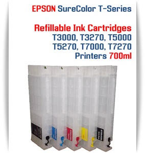 EPSON SureColor T7000, T7270 Refillable Printer Ink Cartridges 700ml