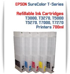 EPSON SureColor T5000, T5270 Refillable Printer Ink Cartridges 700ml