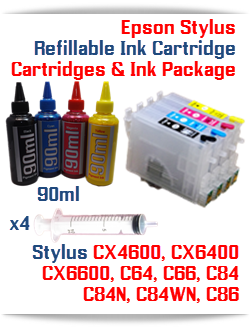 Epson Stylus Refillable Cartridges Ink Package