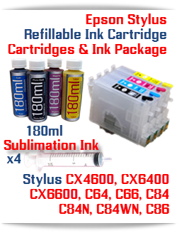 Epson Stylus Refillable Sublimation Ink Package