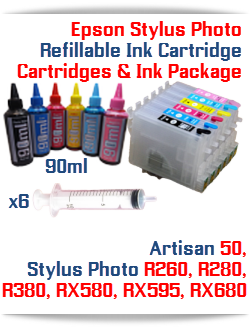 Epson Stylus Photo Refillable Cartridges Ink Package