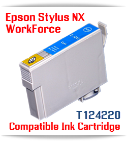 Epson T124220 Cyan Stylus NX, WorkForce Compatible Printer Ink Cartridge