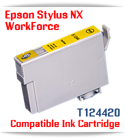 Epson T124420 Yellow Stylus NX, WorkForce Compatible Printer Ink Cartridge