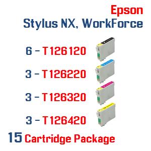 Epson Stylus NX, WorkForce 15 Ink Cartridge Package