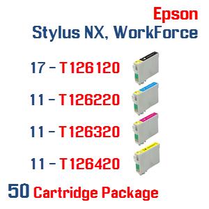 Epson Stylus NX, WorkForce 50 Ink Cartridge Package