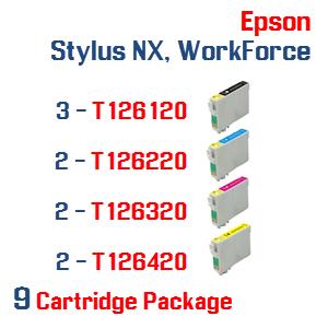 Epson Stylus NX, WorkForce 9 Ink Cartridge Package