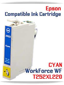 CYAN T252XL220 Epson WorkForce WF Compatible Ink Cartridge