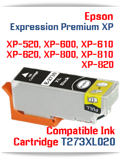 T273XL020 Black Epson Expression Premium XP Printer ink cartridge
