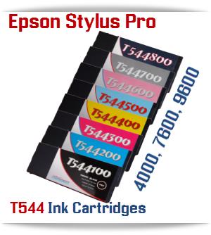 T544 Epson Stylus Pro 4000, 7600, 9600 Compible Pigment Ink Cartridges