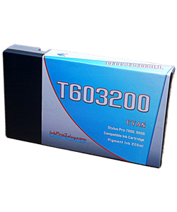 T603200 Cyan Epson Stylus Pro 7800, 9800 Compatible Pigment Ink Cartridges 220ml