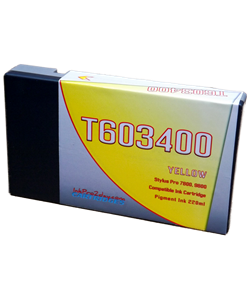 T603400 Yellow Epson Stylus Pro 7800, 9800 Compatible Pigment Ink Cartridges 220ml
