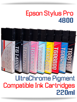 Epson Stylus Pro 4800 Compatible printer Ink Cartridges 220ml