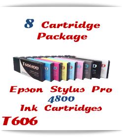8 Cartridge Package Epson Stylus Pro 4800