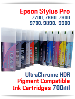 Epson Stylus Pro 7700/9700, 7890/9890, 7900/9900 UtraChrome HDR Pigment Compatible Ink Cartridge 700ml