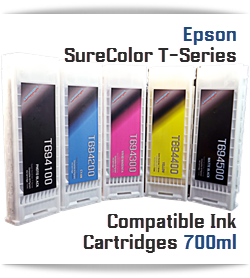 Epson SureColor T3000, T5000, T7000, T3270, T5270, T7270, T5270D, T7270D  Printer Compatible Ultrachrome XD Pigment Ink Cartridges 700ml
