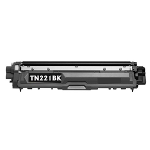 TN221BK Black Brother Compatible Toner Cartridge - Works with:  HL Printers: HL-3140CW, HL-3170CDW, MFC MultiFunction Printers: MFC-9130CW, MFC-9330CDW, MFC-9340CDW