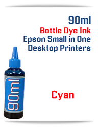 Cyan 90ml Bottle DYE Ink Epson Desktop Small Format Printers