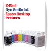 240ml Dye Bottle Ink Epson Desktop All in One Small Format Printers