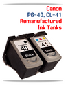 Canon PG-40 CL-41 Remanufactured Ink Cartridges