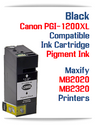 Black PGI-1200XL Compatible Ink Cartridge Canon Maxify MB2020, MB2320 printers