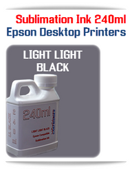 Light Light Black 240ml Epson Desktop printers compatible Sublimation Ink
