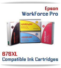 676XL Compatible with EPSON Printers Workforce pro WP-4010, Workforce pro WP-4020, Workforce pro WP-4023, Workforce pro WP-4090, Workforce pro WP-4520, Workforce pro WP-4530, Workforce pro WP-4533,Workforce pro WP-4540, Workforce pro WP-4590