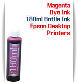 Magenta 180ml Bottle Dye Ink for Epson Small all in one Desktop Printers