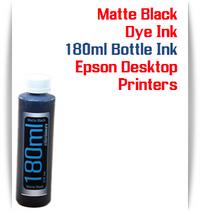 Matte Black 180ml Bottle Dye Ink for Epson Small all in one Desktop Printers