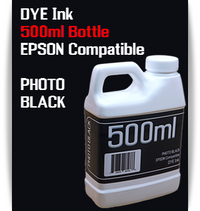 Photo Black 500ml Dye Bottle Ink Epson Stylus Pro Printers