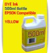 Yellow 500ml Dye Bottle Ink Epson Stylus Pro Printers